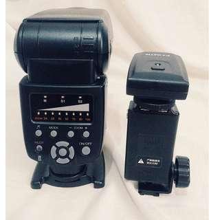 external flash: YONGNUO Digital Speedlite YN560