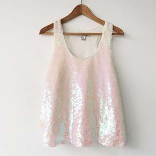 Forever 21 Holographic Sequin Top