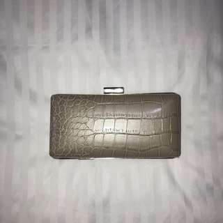 Champagne Hard Case Evening Clutch