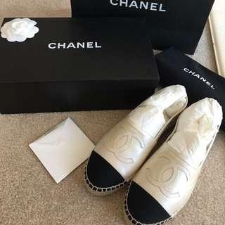 Chanel 珍珠白+牛皮