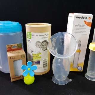 Haaka Silicone Breast Pump and Medela Softcup Feeder