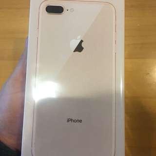 全新未拆封iphone8plus金色64g