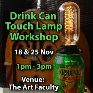 Beer Can Touch Lamp Workshop