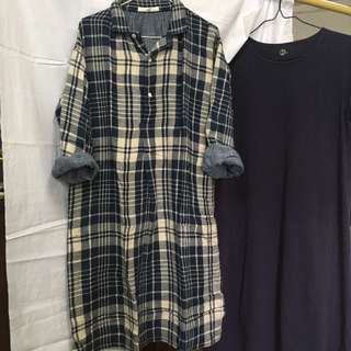 清櫃 🈹 45r indigo one piece 藍染 裙