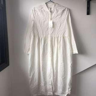 Vanilla Poplin Dress