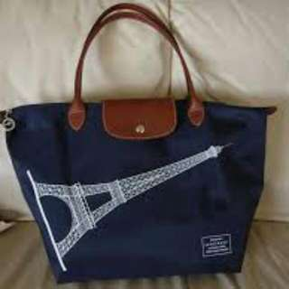 Popular Portable Longchamp Eiffel Tower Bags Light Red