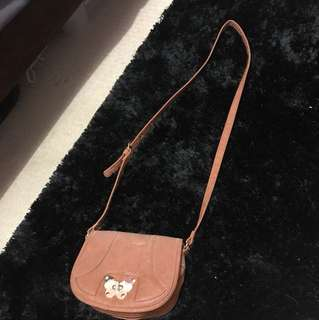 Brown shoulder small bag