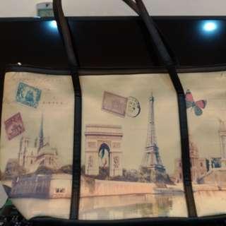 極新 法國風景托特包 肩背包 雙11特賣