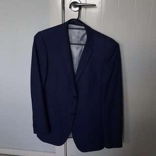 New England Blue Suit Jacket