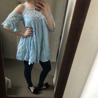 Baby blue top/dress