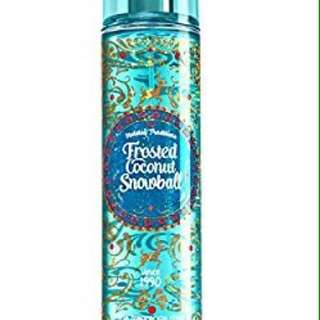 Looking For: Bath and body works Frosted coconut snowball perfume