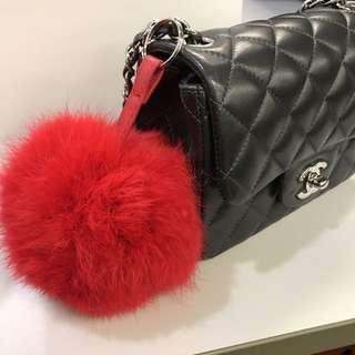 購自韓國 Fur pompom Keychain 毛毛球吊飾