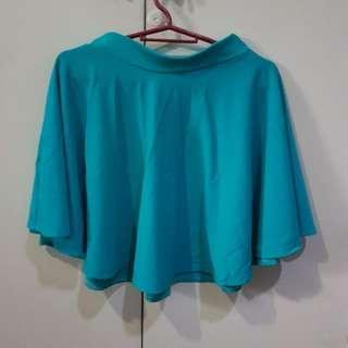 Blue / Brown Skater Skirt