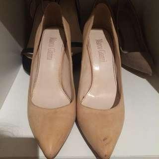Nude point heels