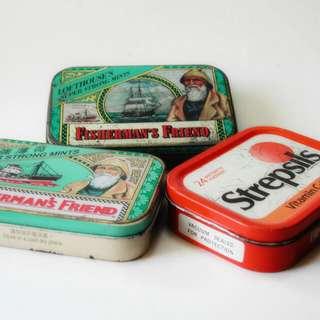 那些年,'渔夫之宝,使立消'懷舊铁盒三个。