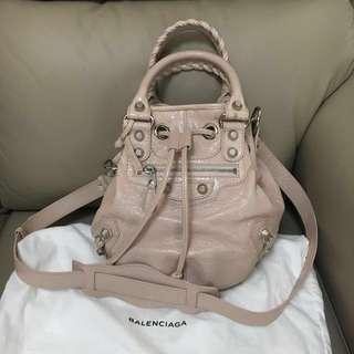 Balenciaga 深粉紅水桶包dirty pink bucket bag