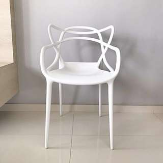 *mint* Kartell Masters inspired designer chairs - set of 4 - stackable