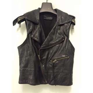 Zadig & Voltaire leather sleeveless jacket 真皮羊皮褸