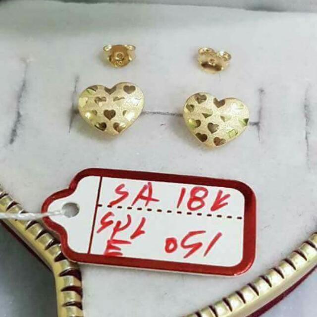 18k SD Gold Earrings