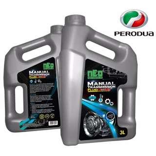 Manual Transmission Fluid API GL-4 3L for Perodua Viva, Kancil, Axia Gear Oil / Gear Lube