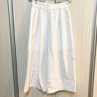 NET條紋寬褲