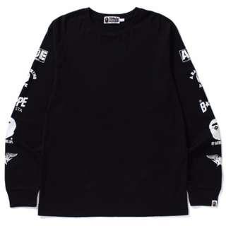 BAPE Multi Logo Long Sleeve T-Shirt