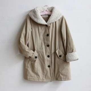 日系女孩🍵毛絨絨鋪棉大衣外套