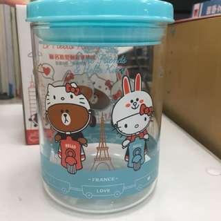 LINE FRIENDS x Hello Kitty聯名款玻璃密封罐