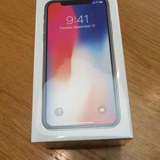 Iphone X 256GB 黑 space gray. Sealed.