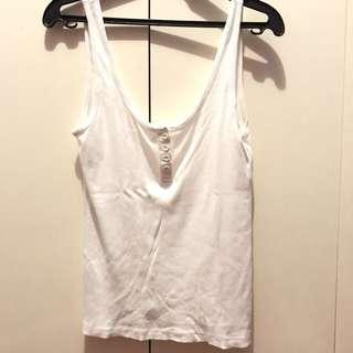 H&M white sleeveless