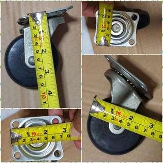 4x heavy duty 70mm dia castor wheel for trolley