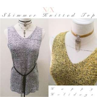 New Arrivals ♥ Shimmer Knitted Holidays Top ♥