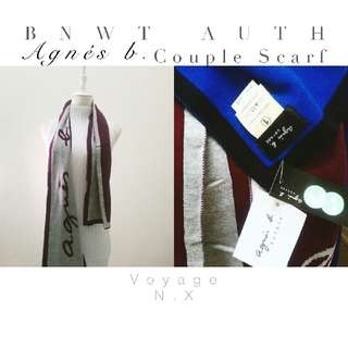 UNISEX ✦ COUPLE WEAR ❆BNWT Auth Agnes b. Couple Scarf❆