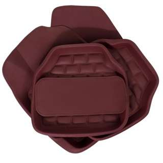 Maroon leather floor mat