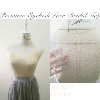 Just Arrives  ❅Premium Eyelash Lace Ripped Bridal Top❅