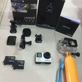 GoPro Hero4 Black Edition FULL SET (as shown)