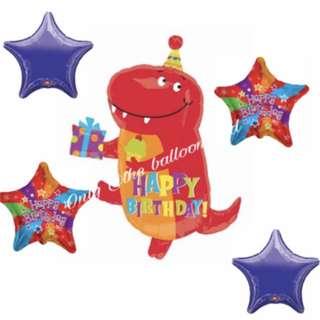 Happy Birthday Dinosaur Balloons🎈🎈🎈