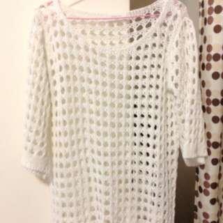 韓貨 針織毛衣鏤空款 全新