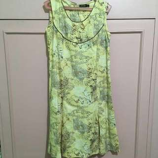 Yellow Floral Dress (Small)