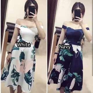 Flower Shoulder Dress