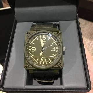 REPRICED: JF Green Camo Analog Velcro Watch
