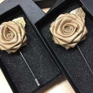 Gold Rose Lapel Pin