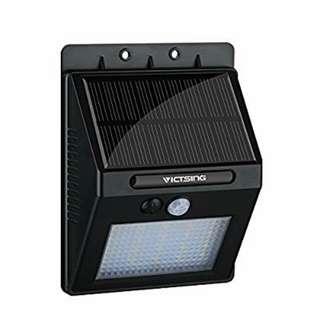 Waterproof Wireless 20 LED Solar Motion Sensor Wall Light (1 pair)