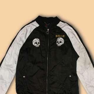 Skull Satin-like Jacket
