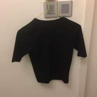 (Inc Pos) Black Crop Fit T-Shirt