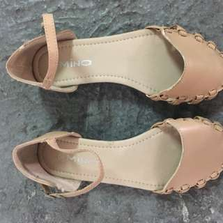 Beige Strapped Closed Sandals