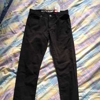 Mossimo Super Skinny Jet Black Jeans (size 8)