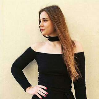 Offered Choker Off Shoulder Top Clearance Sale