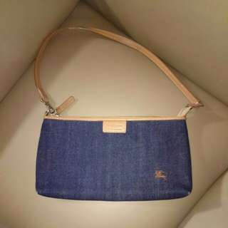 ㊣ BURBERRY blue label - Denim handbag 牛仔布 小手袋 (used 8 成新) 旅行用大錢包