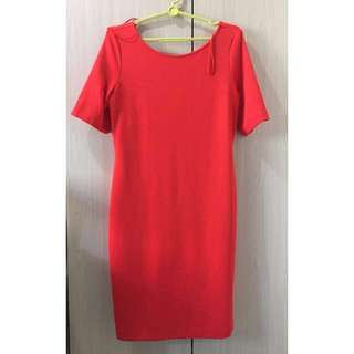 Esprit Women's Red Midi Work Dress (L)